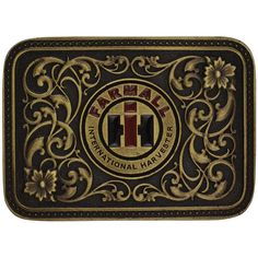 IH - Farmall Rose Gold Buckle - ShopCaseIH.com