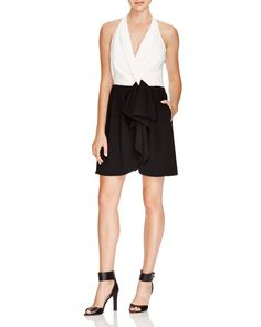 Cynthia Steffe Nettie Color-Blocked Dress - Bloomingdale's Exclusive - Black & White