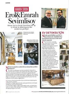 #Sevimlimimarlik in the January issue of #InstyleHome #Turkey #interiors #icmimari #deco #homedecor #detox #house #dekorasyon Featuring some of our projects
