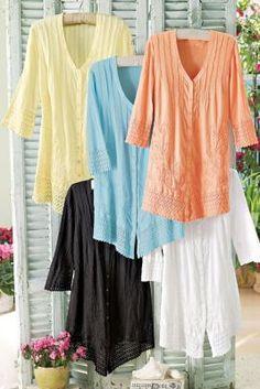 Grenada Gauze Shirt - Soft Surroundings
