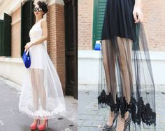 DIY Inspiration: Lace And Tulle Maxi Skirt