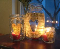 Great Valentine's Day Jar Candles - The Greatest 30 DIY Decoration Ideas For Unforgettable Valentine's Day Diy Valentines Gifts For Him, Diy Gifts For Mom, Easy Diy Gifts, Valentine Day Crafts, Love Valentines, Homemade Gifts, Vintage Valentines, Diy Valentine's Day Jar, Valentine's Day Diy