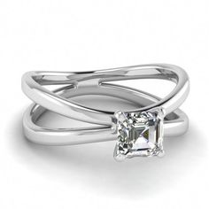 4d25f5c077ec princess cut ring with band 4680  princesscutringwithband H Color Diamond