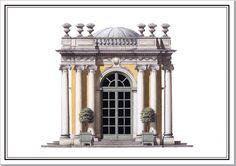 Lantern Pavilion' fantasy design | Architectural Watercolors