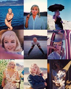 Marilyn Monroe on the set of The Misfits, 1960