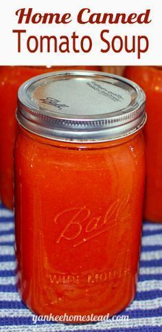 Canned Tomato Soup This is one of the recipes that has me planning to add many more tomato plants to next year's garden plans. It's a winner, for sure!Canned Heat (disambiguation) Canned Heat may refer to: Canning Tomato Soup, Tomato Soup Recipes, Canning Tomatoes, Jar Recipes, Tomato Canning Recipes, Canning Vegetables, Spinach Recipes, Cooker Recipes, Gourmet