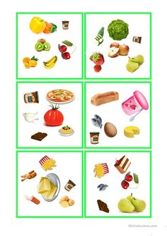 Essen und Tinken - dobble Food Spot, English Lessons, Speech And Language, Board Games, Worksheets, Kindergarten, Printables, Health, Free Time