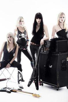 Mia Coldheart, Klara Force, Ida Evileye and Nicki Wicked (Crucified Barbara)