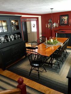 Broyhill Attic Heirlooms China Hutch With Base In Black Stain Rustic Dining Room