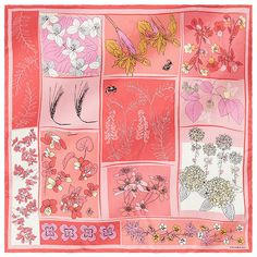 Midsummer Night is full of magic. The flowers in the meadow enchant their picker and predict the future. Wool Scarf, Spring Summer, Magic, Silk, Flowers, Scarves, Patterns, Collection, Future