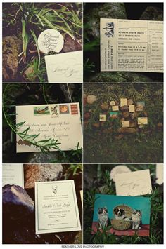 cool invites from the photographer of http://www.featherlove.com/blog/