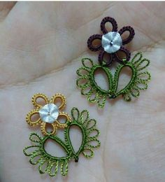 Tatting Jewelry, Thread Jewellery, Tatting Lace, Needle Lace, Bobbin Lace, Crochet Unique, Tatting Patterns, Macrame Necklace, Silk Thread