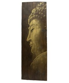 Buddha on wooden door painting