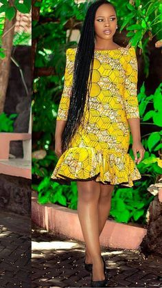 Latest African Fashion Dresses, African Dresses For Women, African Attire, African Wear, African Outfits, Ankara Short Gown Styles, Short Dresses, Ghana Dresses, Ankara Dress