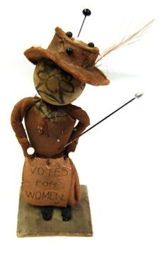 Anti-Suffragette doll, left anonymously in the mailbox of an early 20th c. Welsh…