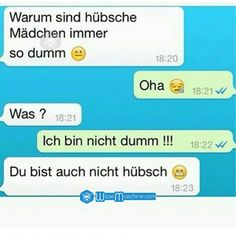 Lustige WhatsApp Bilder und Chat Fails 77 - Hübsch = Dumm? Funny Chat, Wtf Funny, Funny Texts, Funny Jokes, Hilarious, Text Message Fails, Funny Text Messages, Text Fails, Fanny Pics