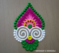 Rangoli Designs Simple Diwali, Simple Rangoli Border Designs, Rangoli Designs Latest, Rangoli Designs Flower, Free Hand Rangoli Design, Small Rangoli Design, Rangoli Designs With Dots, Beautiful Rangoli Designs, Kolam Designs