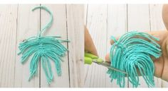 DIY Macrame Feather Earrings - Crafting on the Fly Macrame Earrings Tutorial, Diy Tassel Earrings, Earring Tutorial, Feather Earrings, Crochet Earrings, Types Of Knots, Macrame Wall Hanging Diy, How To Make Tassels, Earring Crafts