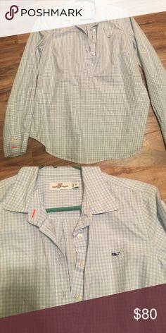 Quick sale! Vineyard vines shirt Vineyard vines pullover shirt size 6 fits small-medium Vineyard Vines Tops Button Down Shirts
