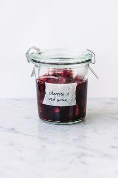 Cherries + Red Wine