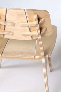 plywood furniture chair by Alejandro Palandjoglou Plywood Chair, Plywood Furniture, Cool Furniture, Furniture Design, Plywood Floors, Futuristic Furniture, Plywood Art, Wood Chairs, Bespoke Furniture