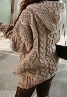 Hooded cardigan coat. I need this for winter lol. Now if only i could find the time to knit or crochet it!