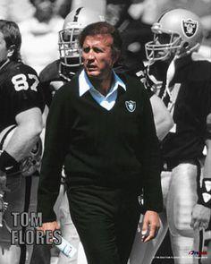 Tom Flores Oakland Raiders 1979-81, Los Angeles Raiders 1982-87 and Seattle Seahawks 1992-94. Always looked good in black. 97-87-0.