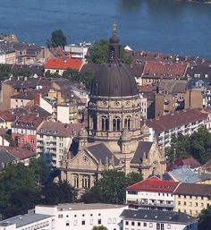 Mainz Luftbild Christuskirche zu Mainz auf der Kaiserstraße