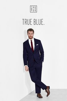 You can always count on this versatile blue suit to get you compliments. Rent it online from The Black Tux, and get free delivery a full 14 days before your event—plus, free returns and replacements.
