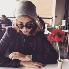 Fashion blogger Nicole Farrugia wearing #Epos sunglasses!