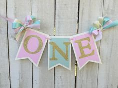pink, aqua and gold birthday high chair banner pink, aqua and gold birthday party ballerina birthday ballerina party princess party 1st birt