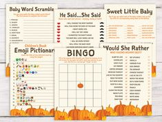 This item is unavailable – Baby Shower İdeas 2020 Baby Shower Fall, Fall Baby, Baby Shower Games, October Baby Showers, Baby Word Scramble, Baby Bingo, Baby Words, Baby In Pumpkin, Baby Shower Printables