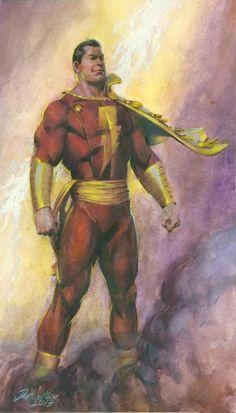 Captain Marvel Comic Art