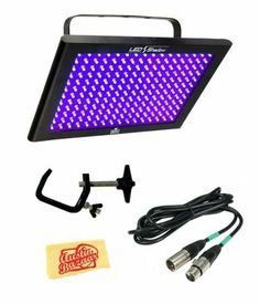 Chauvet LED Shadow UV Blacklight Bundle with 10-Foot DMX Cable, C-Clamp, and Polishing Cloth by Chauvet. $149.99. Bundle includes 10-Foot DMX Cable, C-Clamp, and Polishing Cloth. A DMX cable is useful for connecting DMX controllers to lighting consoles, fog machines, and other such devices. A C-clamp is useful for connecting lighting consoles and other such devices to stands. A polishing cloth is useful for care and maintenance.The LED Shadow is a 3-channel DMX blacklight in a...