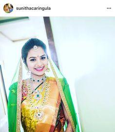 Indian Bridal Sarees, Bridal Silk Saree, Indian Bridal Wear, Saree Wedding, Indian Wedding Fashion, Indian Wedding Hairstyles, Wedding Saree Collection, Bridal Collection, Gold Wedding Jewelry