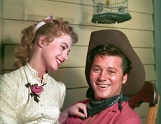 If you were born in 1955, that year an unknown actress who had only appeared in a couple small parts on Broadway got a huge chance at Hollywood - Shirley Jones was cast to the part of Laurey in the film version of Rogers and Hammerstein's Oklahoma! The famous composing duo had known her from Broadway