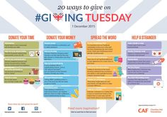 20 Ways to Give on #GivingTuesday