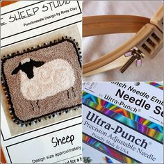 Beginner Punchneedle Kit - Detailed instructions with dozens of thumbnail photos.  Kit includes everything you need to begin !