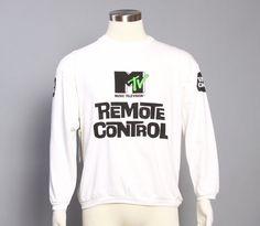 vintage 1980s mtv sweatshirt.