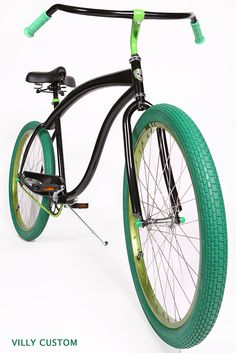 Love the colors and they'd match my bell! Bicycle Rack, Cruiser Bicycle, Motorized Bicycle, Bmx, Custom Beach Cruiser, Electric Tricycle, Lowrider Bike, Urban Bike, Cool Bicycles