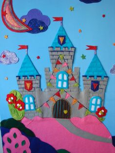 Felt castle collage 90x100 by TheLittlePupa on Etsy