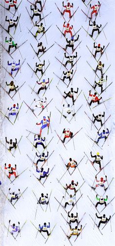week in sport – in pictures An aerial view shows cross-country skiers climbing a hill during the Engadin Ski Marathon near St Moritz.An aerial view shows cross-country skiers climbing a hill during the Engadin Ski Marathon near St Moritz. Vintage Ski, Vintage Travel Posters, Ski Et Snowboard, Snowboarding, Xc Ski, Nordic Skiing, Ski Posters, Cross Country Skiing, Birds Eye View