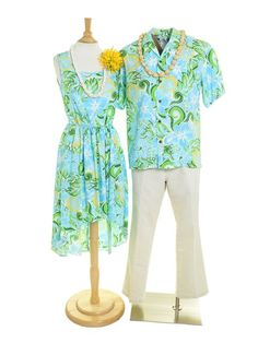 10a68810f1 Two Palms Tropical blooming Turquoise Rayon Men s Hawaiian Shirt