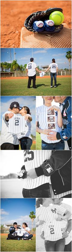 Baseball Gender Reveal Photography