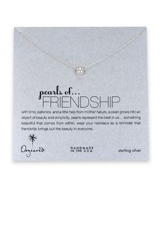 Pearls of Friendship Silver Necklace from Dogeared Jewelry at Art Effect $40.