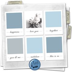 Free Polaroid 3x4 Card Templates for Project Life from Serendipity Design