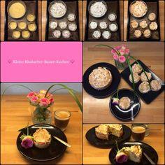 Klein & fein: Kleine Rhabarberkuchen mit Baiserhaube … der fruchtig-süße Klassiker im Miniformat