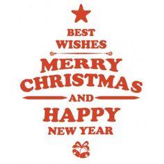 Vrolijk kerstfeest raamsticker merry christmas 1