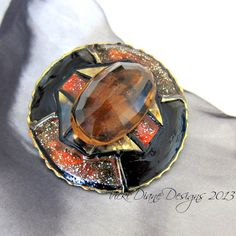 Absolutely stunning Liquid Treacle Topaz by VickiDianeDesigns on Etsy, $25.00 #handmade #onfireteam #lacwe #cocktail #ring #jewelry #accessories