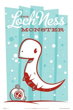 The Monster Friends Poster Series - Loch Ness Monster